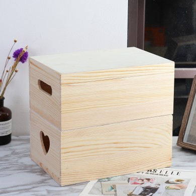 For Toy Clothes Cosmetics Trinket Jewelry Wooden Parts Storage Box Wood Case Holder