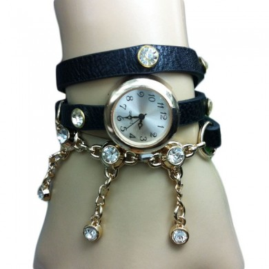 Casual Bracelet Pendant Long Strap Women Wrist Watch