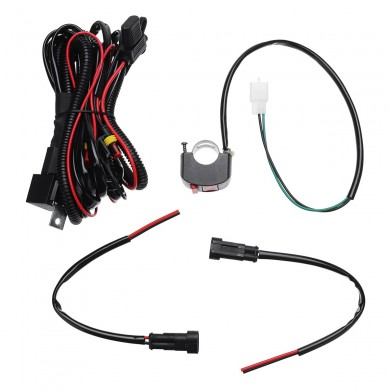 10A Relsy Switch Fog Light / Spot Wiring Loom Harness Kit For Universal Motorcycle Car