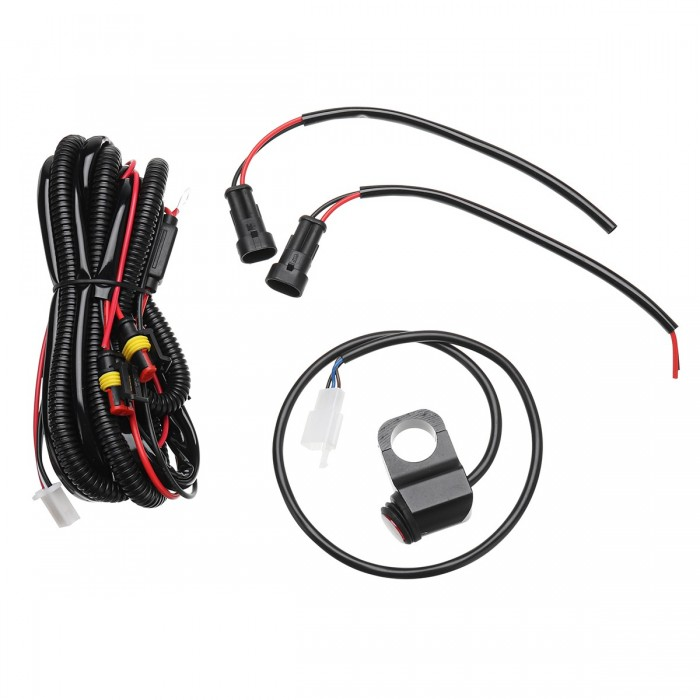 10a Relsy Switch Fog Light Spot Wiring Loom Harness Kit For Motorcycle Car