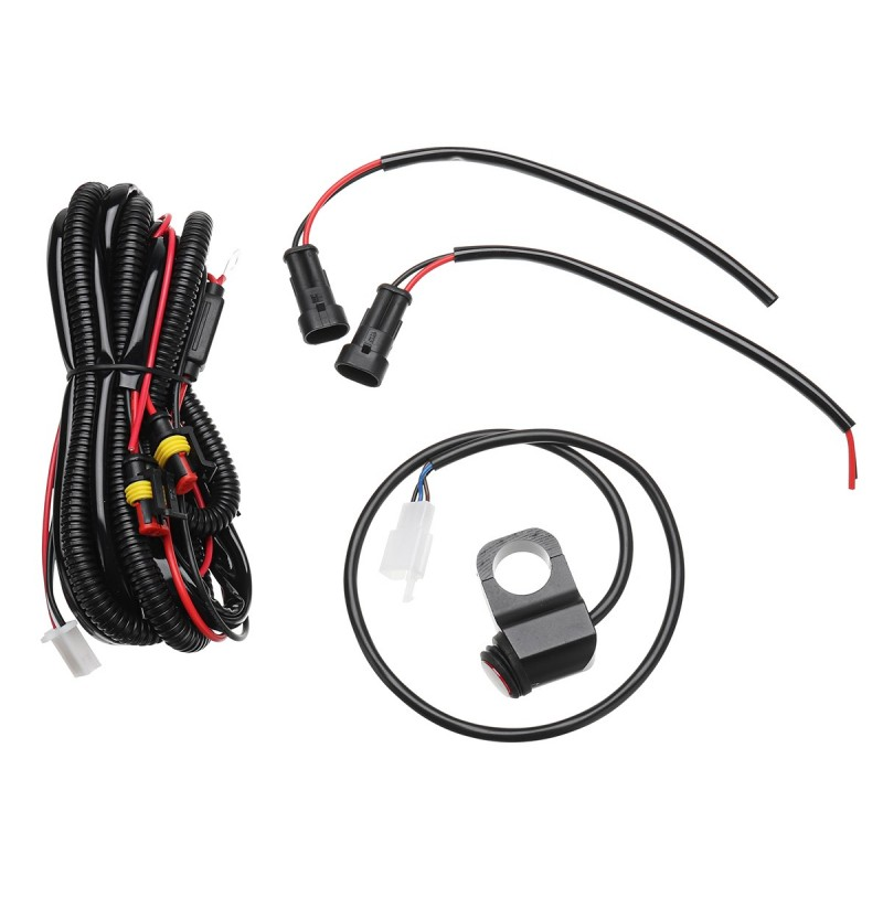 10A Relsy Switch Fog Light / Spot Wiring Loom Harness Kit For Motorcycle Car фото