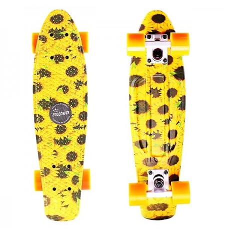 150kg Load Non-Slip Flying Fish Skateboard Longboard EC-FLGLS02 Sunflower