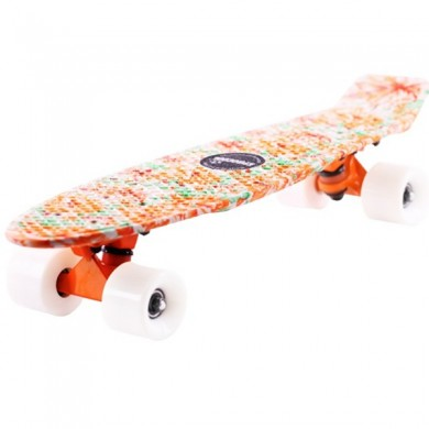 EC-FLGP04 Orange Peony Skateboard Non-Slip Flying Fish Skateboard Longboard