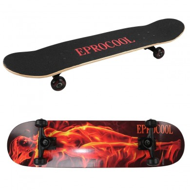 Outdoor Four-Wheels Skateboard Skate Scooter Cool Street Long Board Mini Cruiser Maple Deck