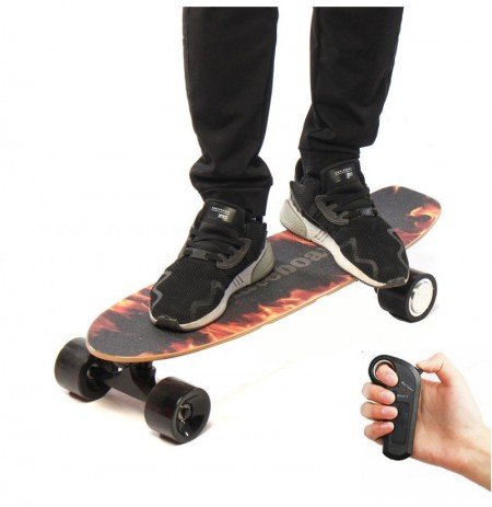 BIKIGHT 250W 18km/h Electric Skateboard Wireless Remote Control Longboard Skate Complete Deck Longboard Hoverboard For Kids Adul