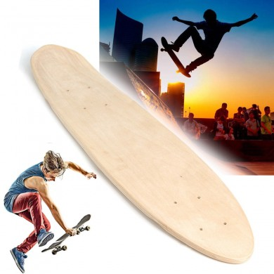 ALFAS Maple 7 Layers 24 Inch Skateboard DIY Fish Board Blank Deck Plate Street Cruising