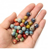 Retro Style 5Pcs 10mm Flower Glaze Beads Volta DIY Spacer Loose Beads