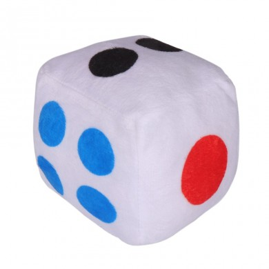 10cm Creative Dice Cloth Doll Pillow Plush Toys Children's Activities Fun Games Dice Game Toys