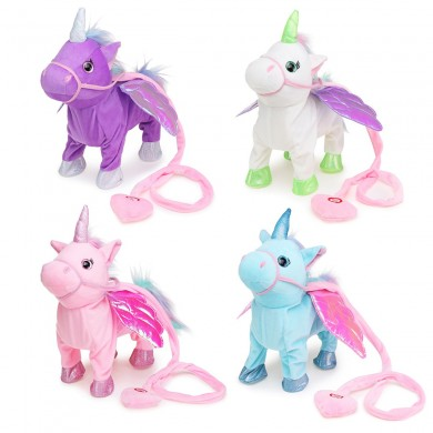 Magia Electric Walking Wiggle Singing Unicorn farcito peluche per bambini regali di Natale