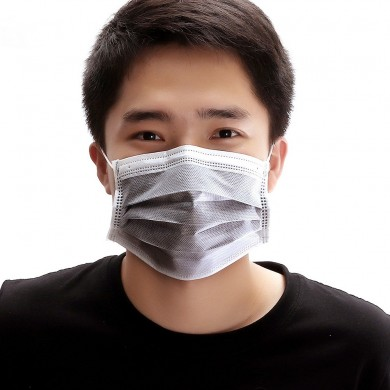 50pcs Disposable Activated Carbon Face Mask 4 Layer Doctor Masks Gray Color Anti Dust Virus PM2.5