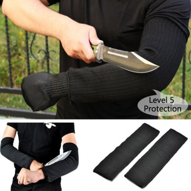 Loskii LG-GA3 1 Pair Steel Wire Safety Anti-cutting Arm Sleeves Gardening Outdoor Protection Tool