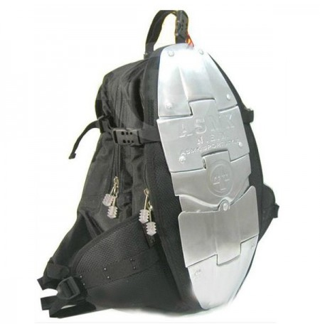 Motocicleta Alloy Backpack Metal Plate Bagagem Bolsa Shoulder Bolsas