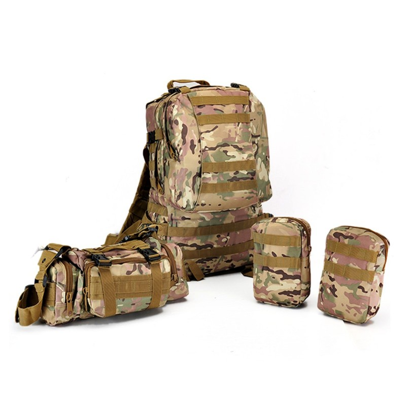 60L Molle Riding Tactical Bag Pouch Camping Racing Trekking Backpack Rucksack (Color: 7) фото