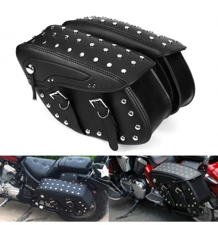 Motorcycle PU Leather Saddlebags Side Bag For Harley Sportster 1200XL 883