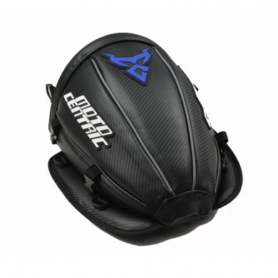 Motocentric Waterproof Motorcycle Carbon fibre Reflective Tail Bag Travel Tank Bag Saddlebags