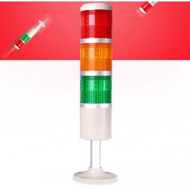 AC220V 3W Signal Tower Light Flashing Caution Lamp Warning Emergency Equipment Road Indicator Lamp