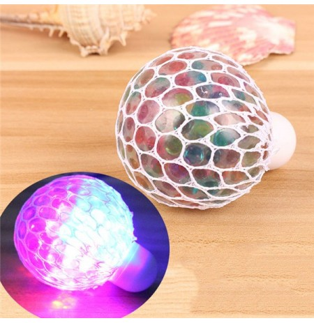 Colorful Lampeggiante LED Night Light Vent Grape Squeeze Ball Giocattolo di fantasia a decompressione antiStress