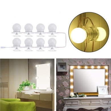 8Pcs Makeup Spiegel Vanity LED Glühbirnen LED Gadgets Satz für Dressing Hollywood Super Star