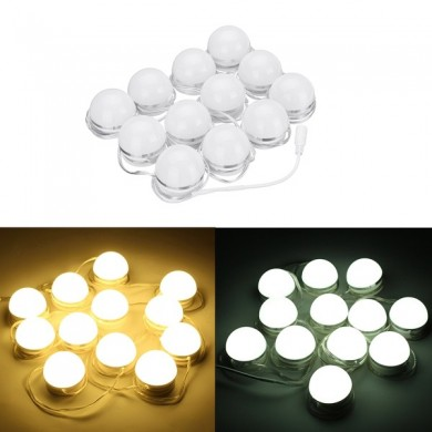 12pcs LED Vanity Makeup Dressing Fernbedienung Spiegel Glühbirnen Hollywood Style