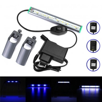 20cm 18 LED Fish Tank Aquarium Light White Blue Lamp Clip on Waterproof Bar AC110-240V