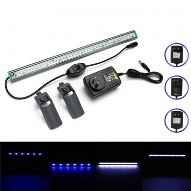 40cm 39 LED Aquarium Aquarium Licht Weiß Blaue Lampe Clip auf Waterproof Bar AC110-240V