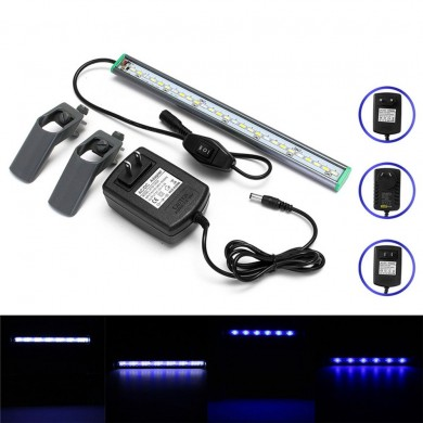 30cm 27 LED Aquarium Aquarium Licht Weiß Blau Lampe Clip auf Waterproof Bar AC110-240V