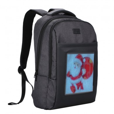 Dynamic LED Backbag WiFi APP Control Backpack Double Shoulder Bag Mobile Billboard Advertisement