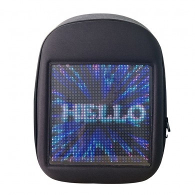 LED Backbag USB WiFi GPRS APP Control Backpack Double Shoulder Bag Mobile Billboard Advertisement