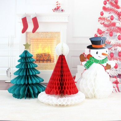Christmas DIY Decorations Tree Hat Snowman Comb Ball Party Christmas Pendant & Drop Ornaments Supplies