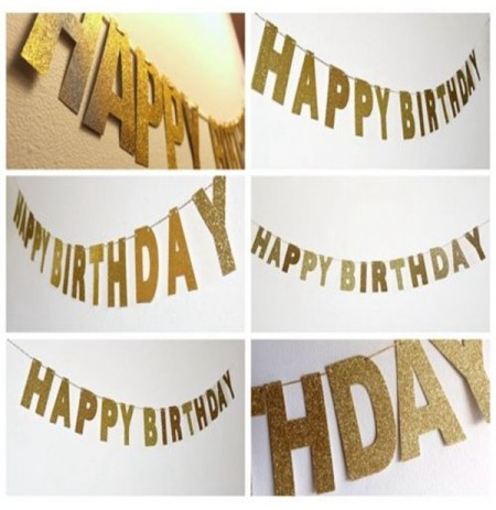 3m or brillant paillettes banner banner happy birthday glitter partie photo décor toile de fond