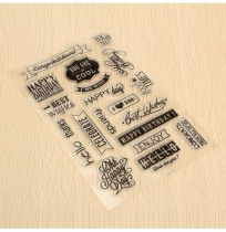 Birthday Transparent Sheet Scrapbooking Craft Card Clear Rubber Stamp Cling Set
