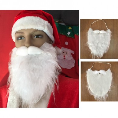 Adult Christmas Santa Claus White Wig Beard Mustache Fancy Dress Party Costume Cosplay Decorations