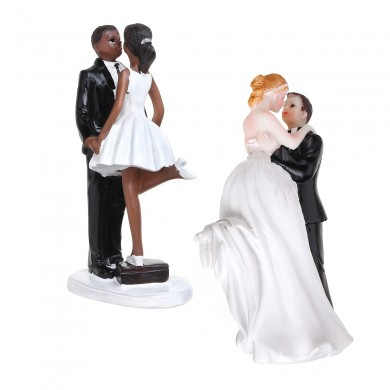 Romantic Funny Wedding Cake Topper Figure Bride Groom Couple Bridal Decorations