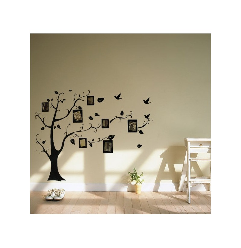 Photo Frames For Home Decor: Photo Frame Tree Family Picture Wall Sticker For Home Decor