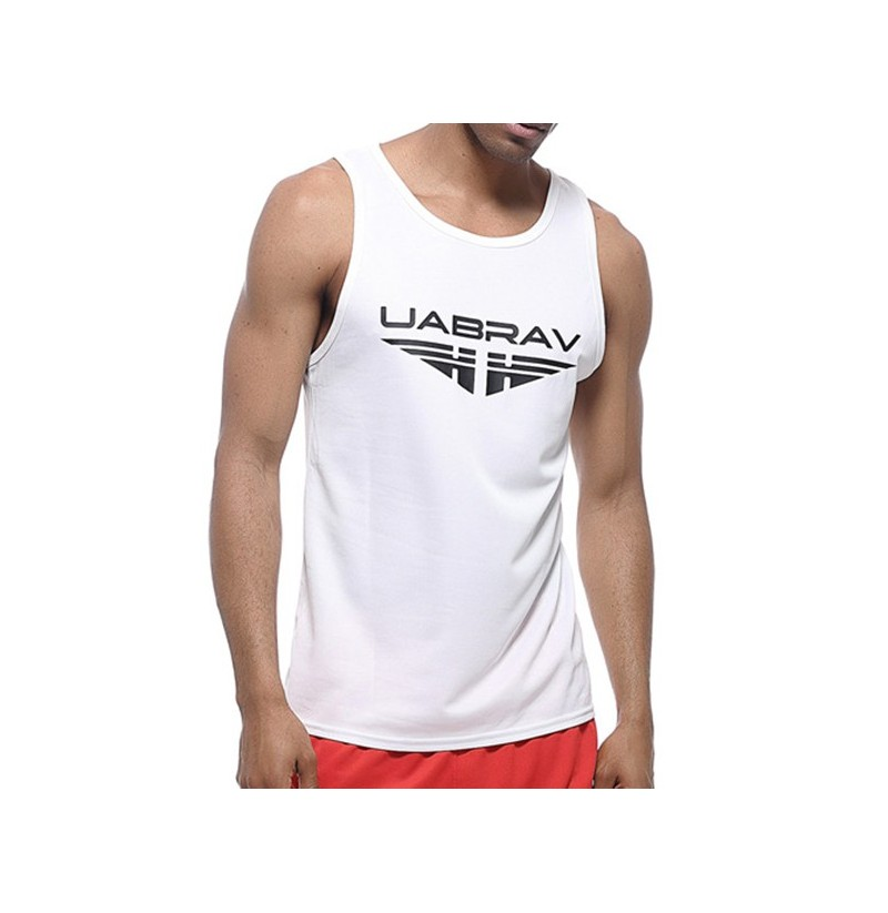 Men's Quick Drying Breathable Jogging Fitness Vest Sport Running Training Tank Tops (Color: Black, Size: L) фото