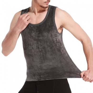 Double Fleece Thick Warm Tank Tops Camisola sem mangas térmica