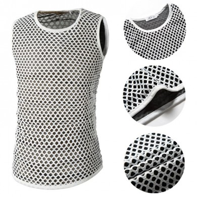 Mens Mesh Rapid Perspiration Breathable Sport Tank Tops