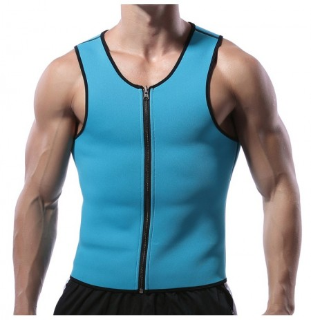 Hombres neopreno Body Shaper Chaleco Muscle Workout Zipper Tank Top