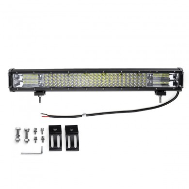 24 Inch Side Shooter LED Barras de luces de trabajo Combo Beam Driving Fog Lámpara 492W 49200LM para Off Road ATV