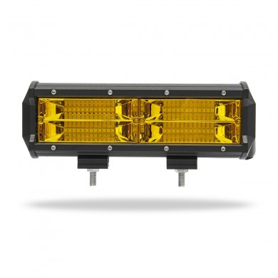 7Inch 8D LED Work Light Bars Fog Lamp 144W Yellow for Jeep Off Road SUV