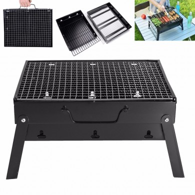 Outdoor Portable Charcoal Folded Barbecue Oven Cooking Picnic Camping BBQ Grill