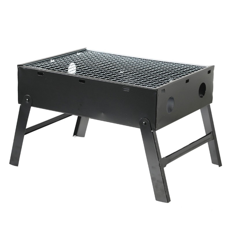 3-4PersonenOutdoorTragbareFaltbareHolzkohle BBQ Grill Hibachi Grill Folding Kochherd Camping Picknick  - buy with discount