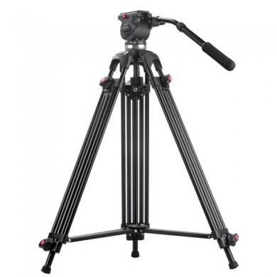 JIEYANG JY0508 Max Load 8KG Camera Tripod For Video Stand DSLR Fluid Head Damping