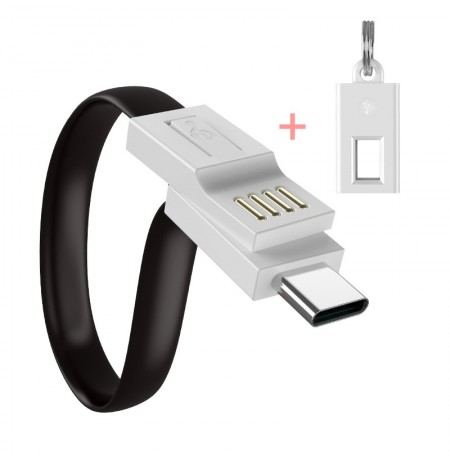 FLOVEME Portable Keychain Data Cable For Oneplus 6 6t Fast Charging USB Type-C Cable For Samsung Galaxy S9 S8 Plus