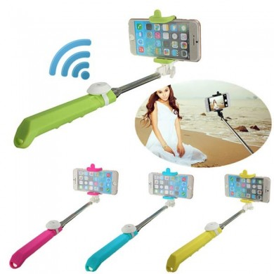 Integrated Android IOS System Handheld Selfie Stick Bluetooth Shutter Extendable Monopod For Phone