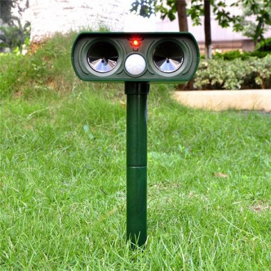 Loskii HG-AP1 Ultrasonic Solar Power Animal Repeller Infrared Sensor Cat Dog Snake Rat Repeller Gard