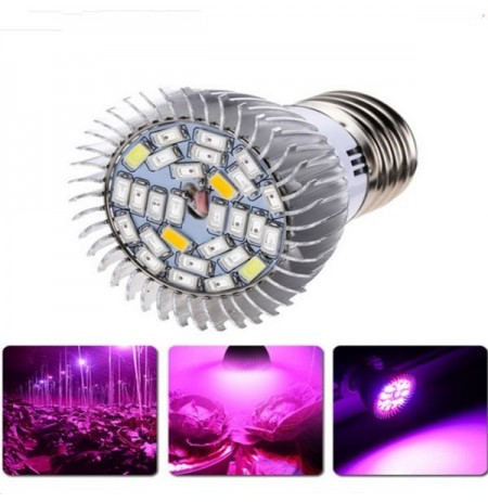 E27 4.5W / 5.5W 18LED Full Spectrum Grow Light Blub para Hydroponic Indoor Planta Flower AC85-265V