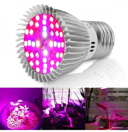 4.5W E27 40 LED Full Spectrum Grow Bombilla para plantas de interior Vegetable Flower AC85-265V