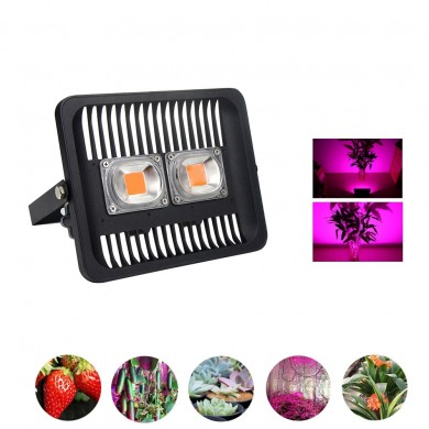 100W Full Spectrum COB LED Plant Grow Flood Light AC220-240V Waterproof for Outdoor Indoor