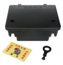 Garden Pest Control Tool Lockable Mouse Rodent Plastic Poison Bait Box With Key